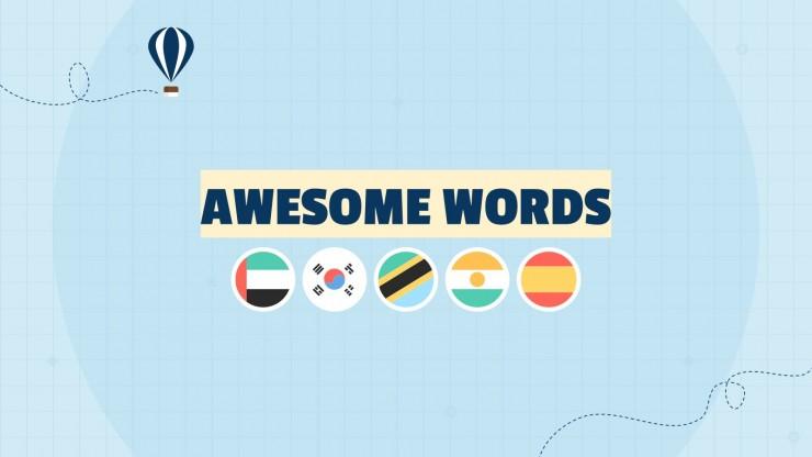 Flaggen der Welt Präsentationsvorlage