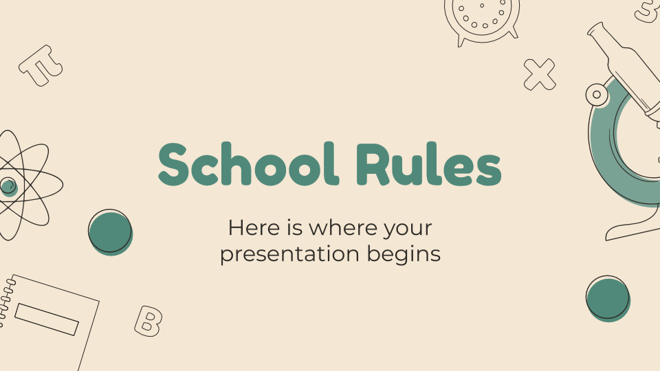 School Rules presentation template
