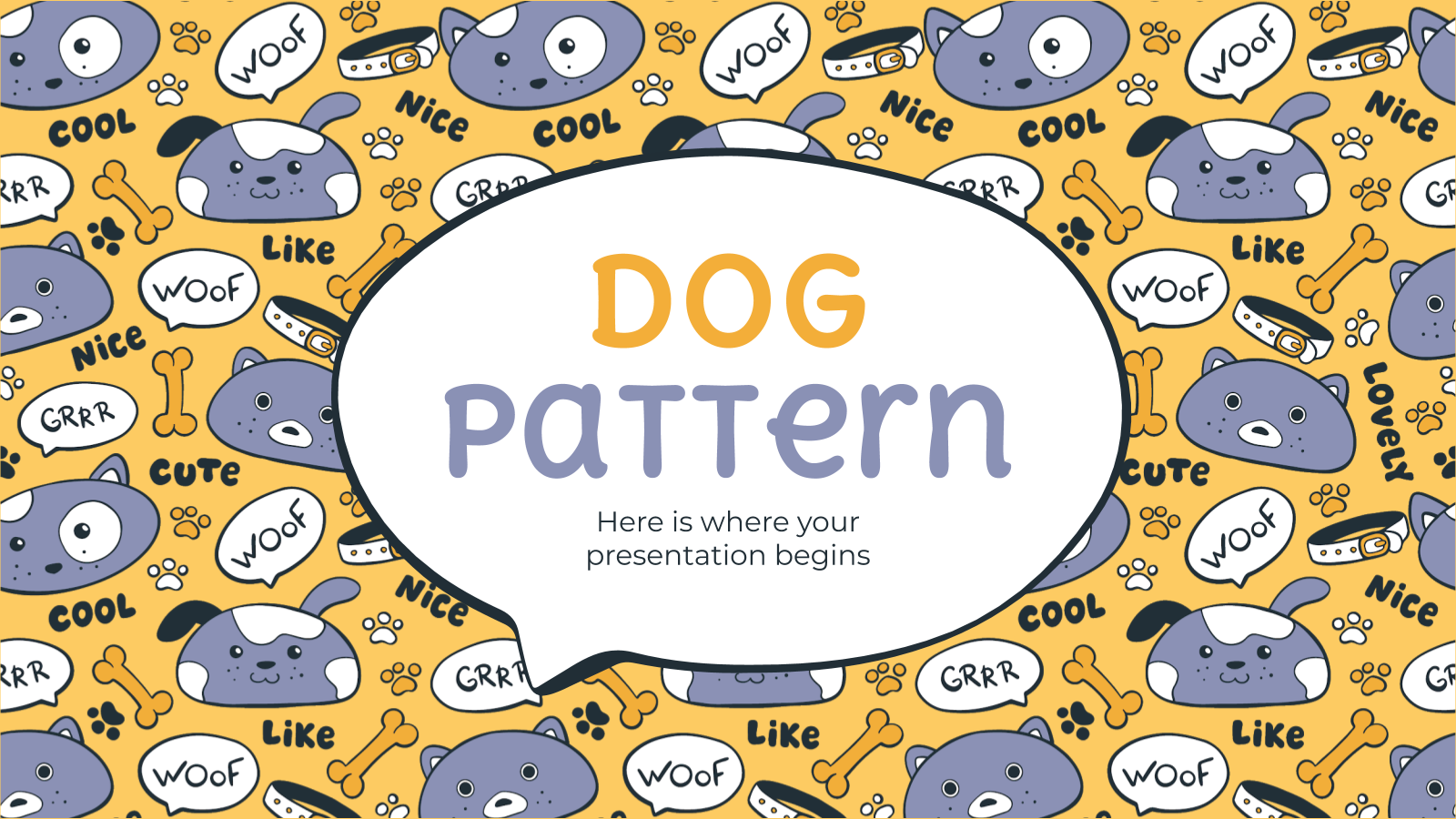 Dog Pattern presentation template