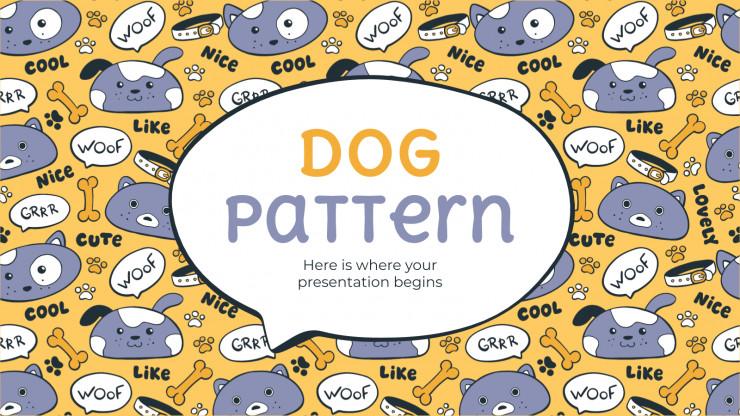 Plantilla de presentación Patrones con perros