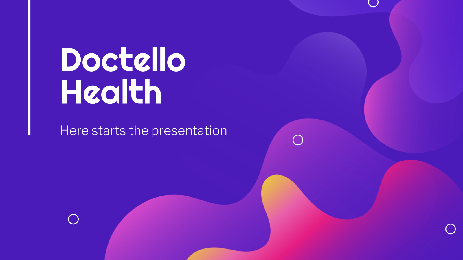 Doctello Health presentation template