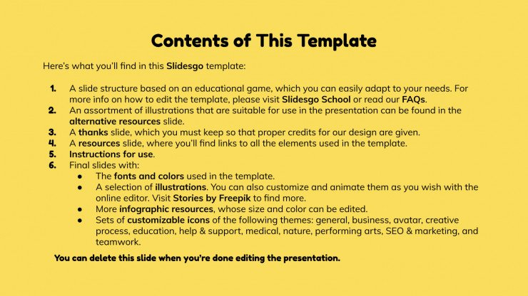 School Icebreakers presentation template