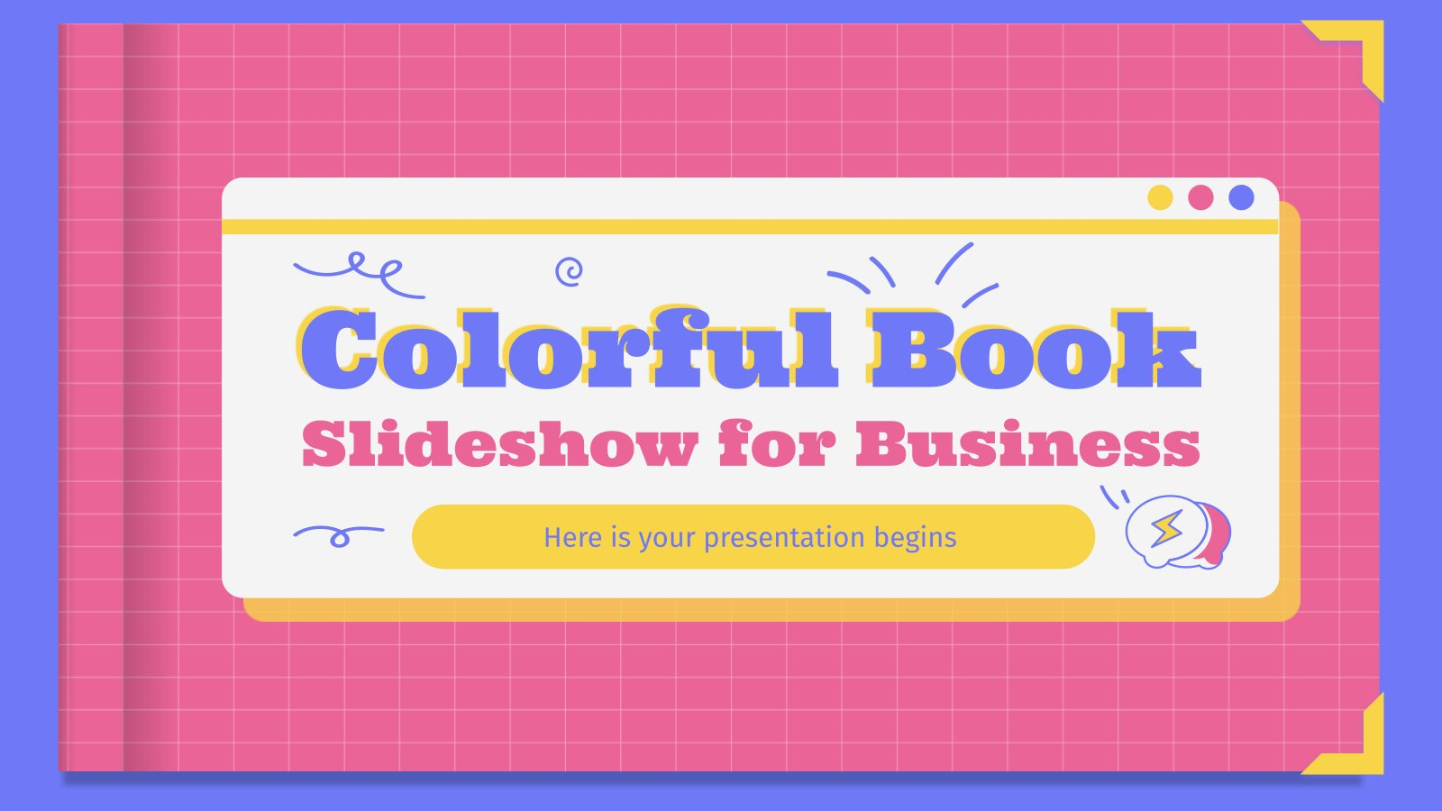 Colorful Book Slideshow for Business presentation template