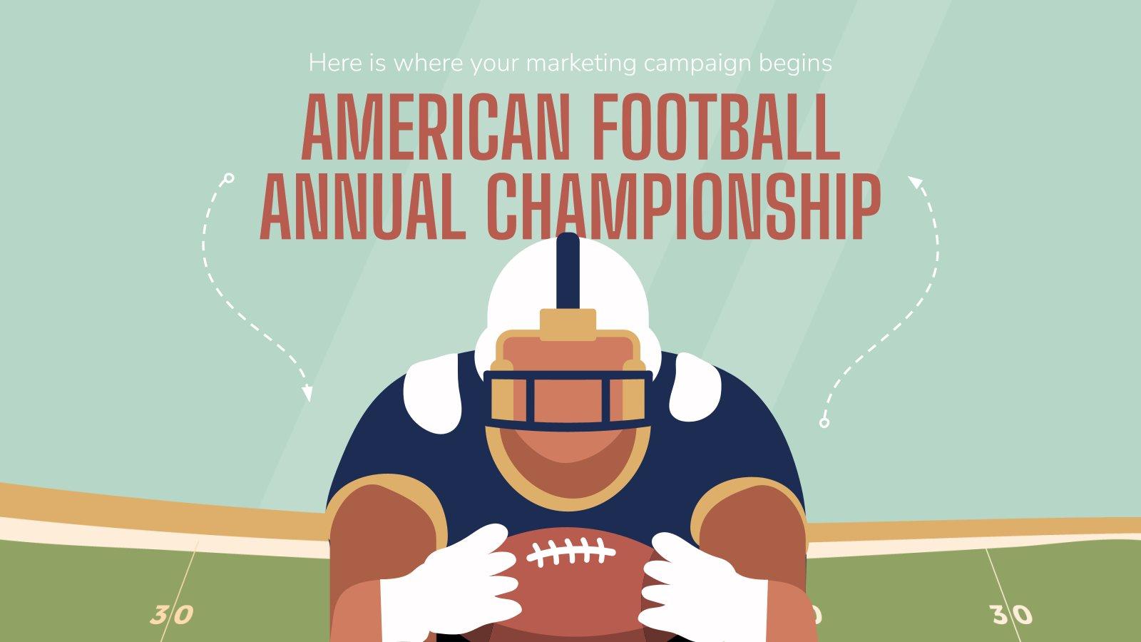 Super Bowl Marketing-Kampagne Präsentationsvorlage