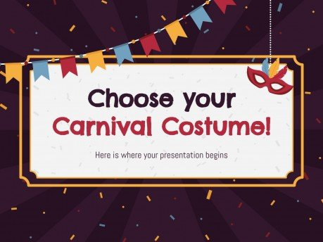 Choose Your Carnival Costume! presentation template