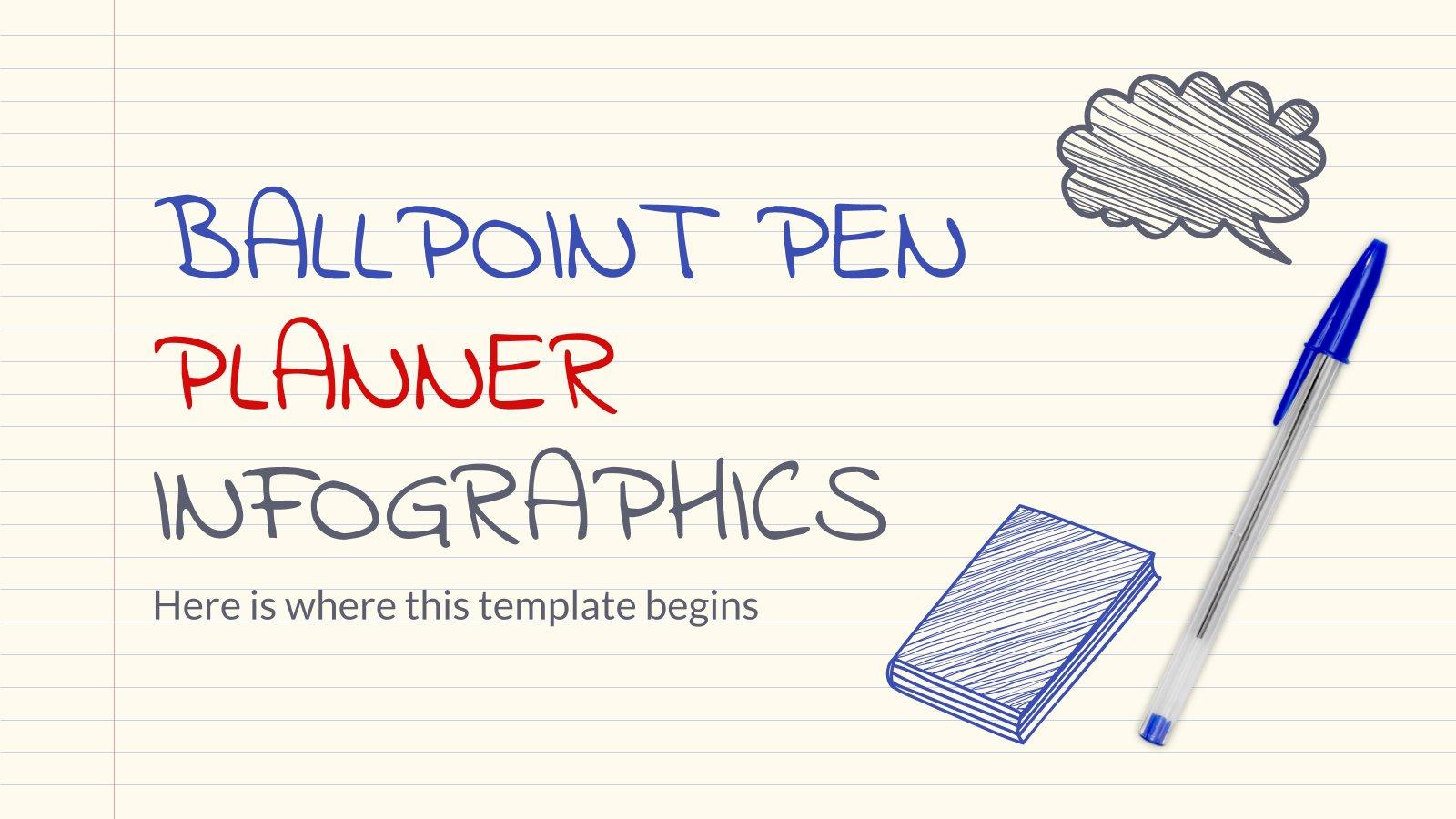 Ballpoint Pen Planner Infographics presentation template