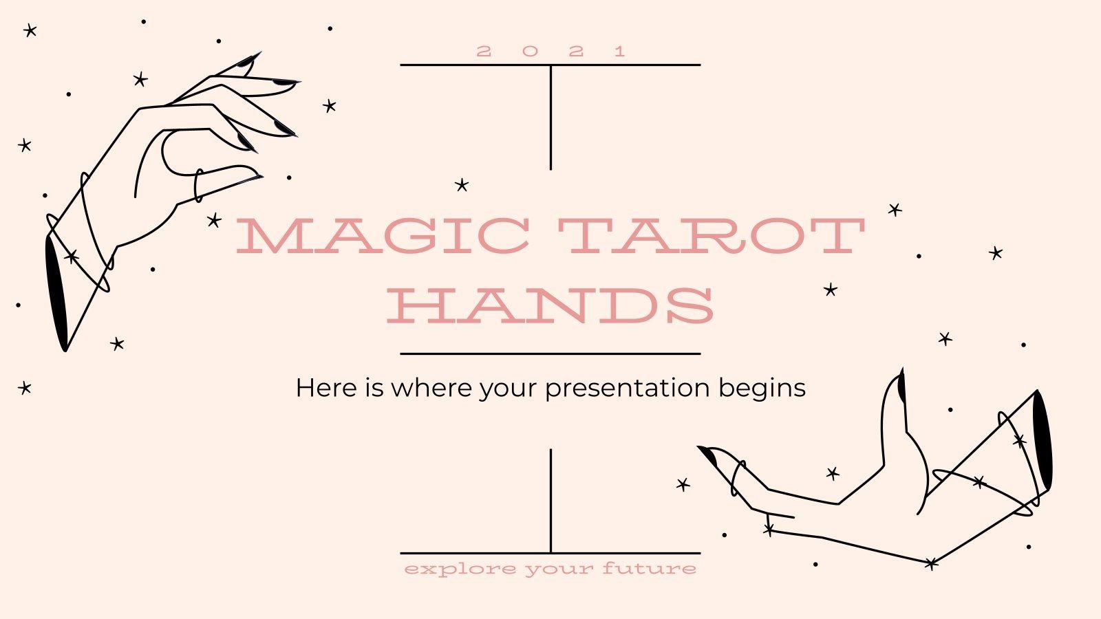 Magic Tarot Hands presentation template