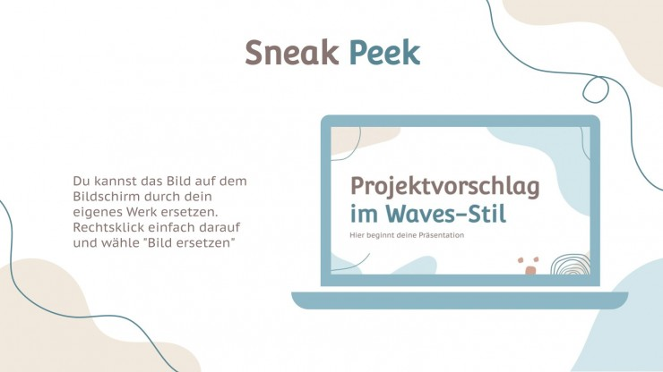Project Proposal with Waves presentation template