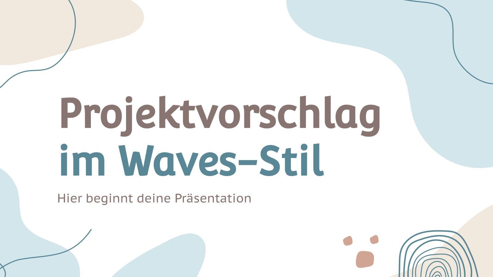 Modelo de apresentação Proposta de projeto com ondas