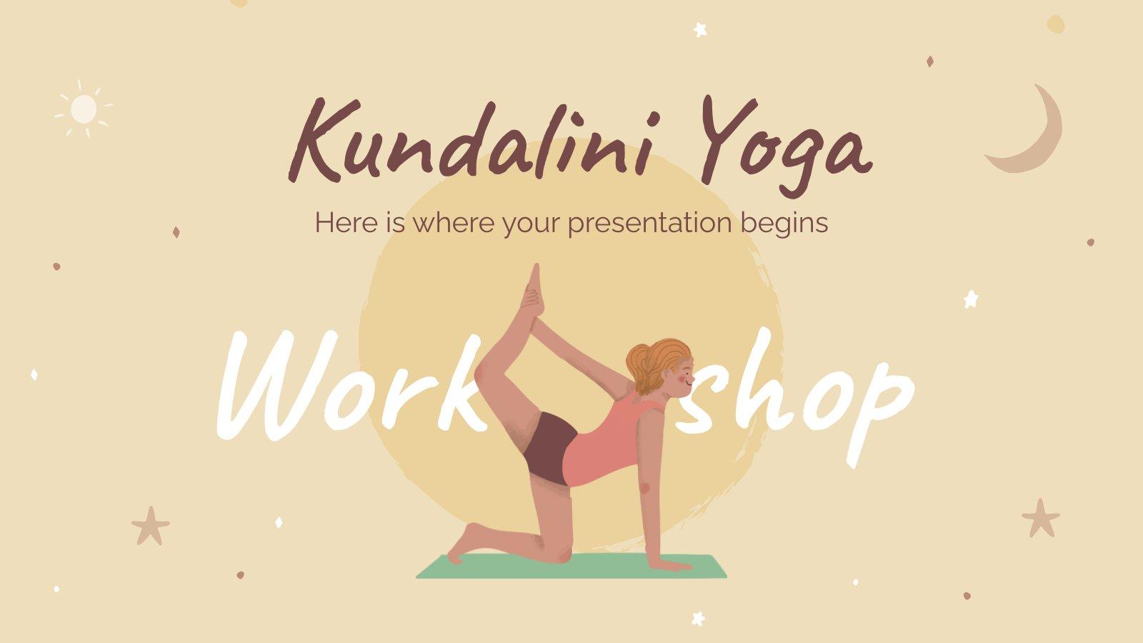 Modelo de apresentação Oficina de ioga kundalini
