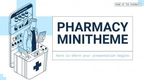 Plantilla de presentación Minitema sobre farmacia