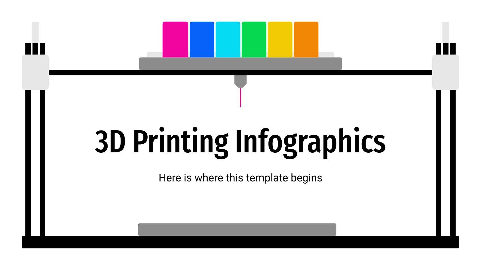 Plantilla de presentación Infografías sobre la impresión 3D