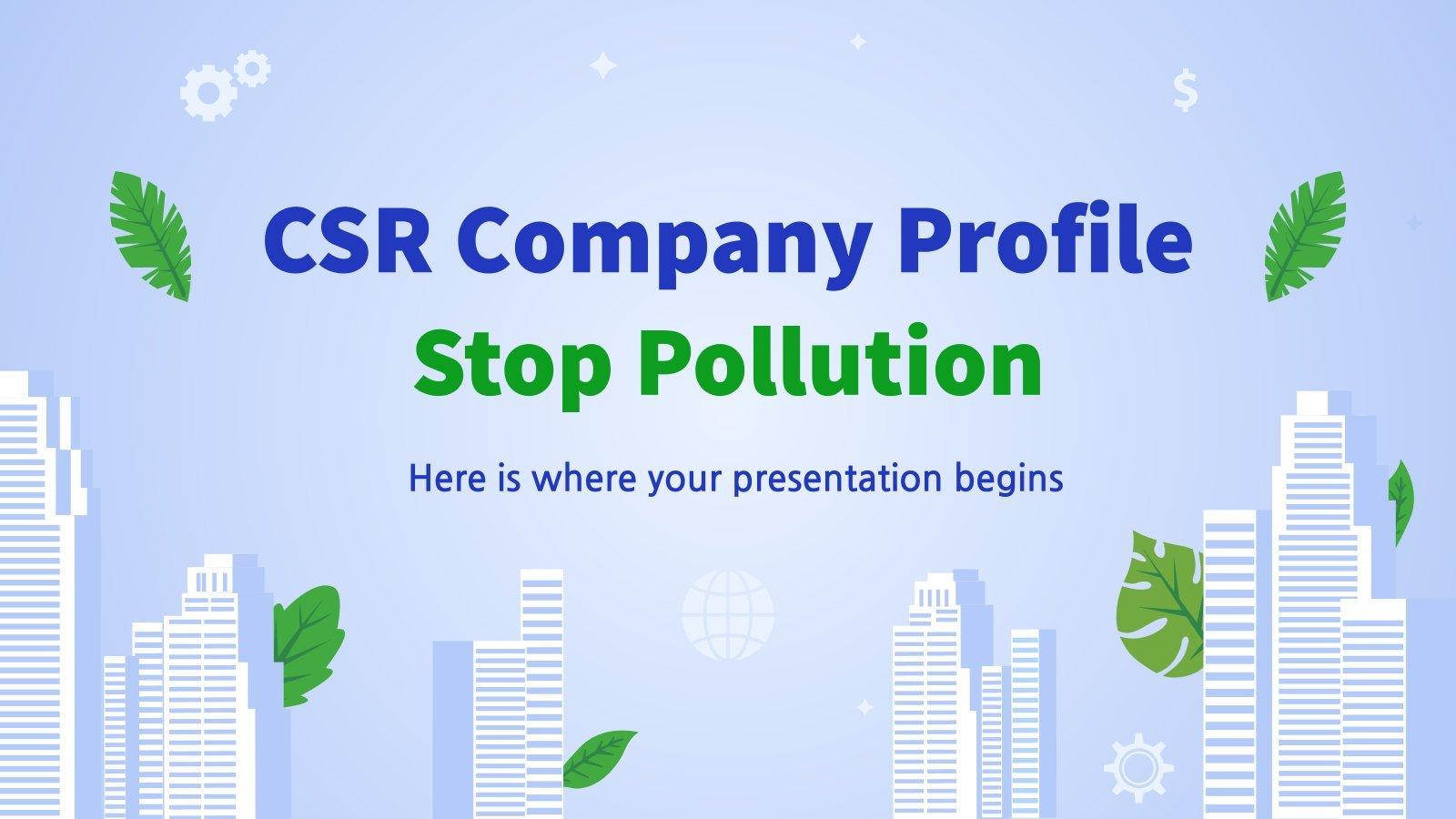 CSR: Stopp der Umweltverschmutzung Präsentationsvorlage