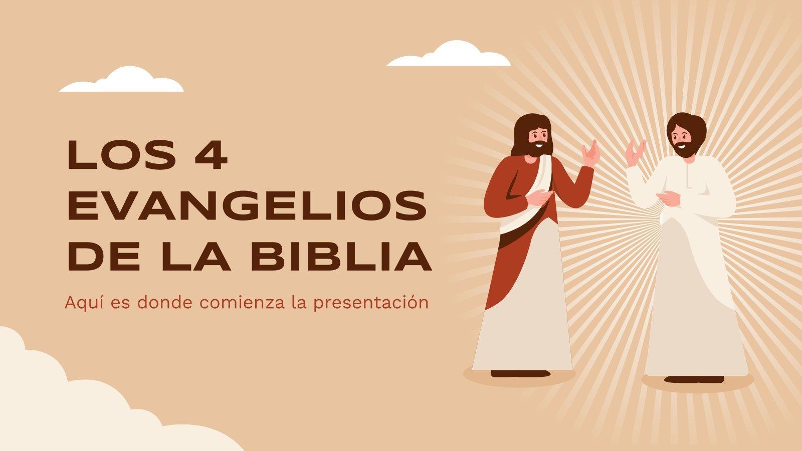 Die vier Evangelien der Bibel Präsentationsvorlage