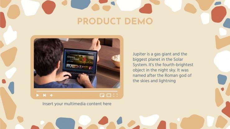Pitch deck avec des arrière-plans modernes crème : Modèles de présentation