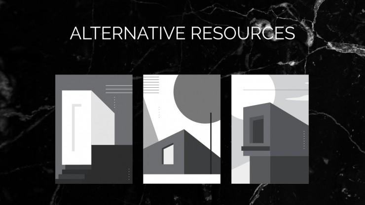Elegantes Architekturportfolio Präsentationsvorlage