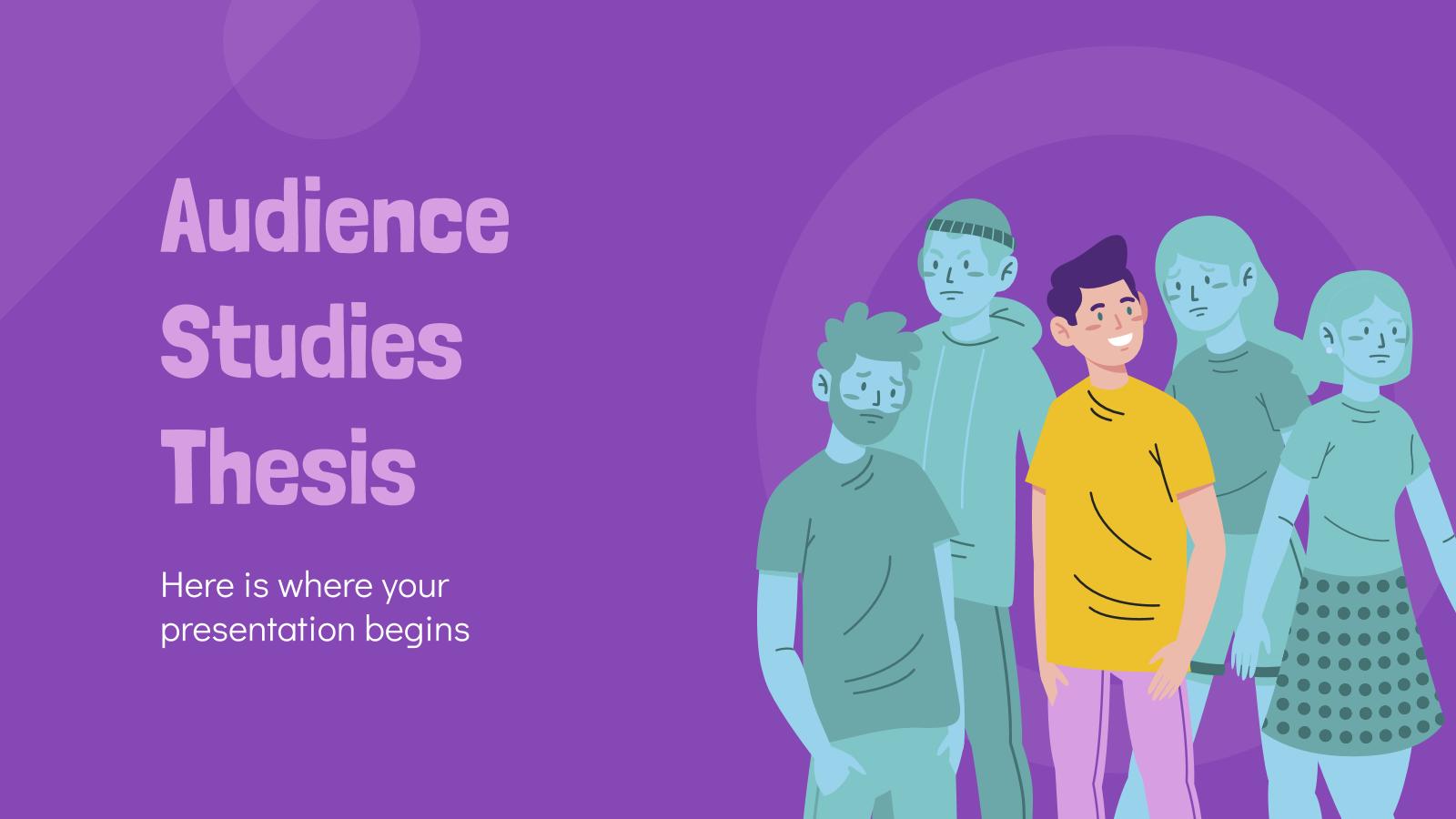 Thèse sur les études d'audience : Modèles de présentation