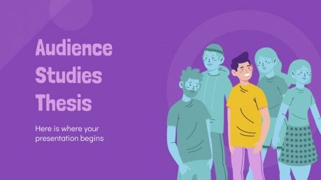 Plantilla de presentación Tesis sobre estudios de audiencia
