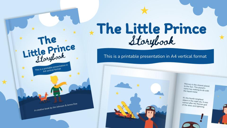 Plantilla de presentación Libro: el pequeño príncipe