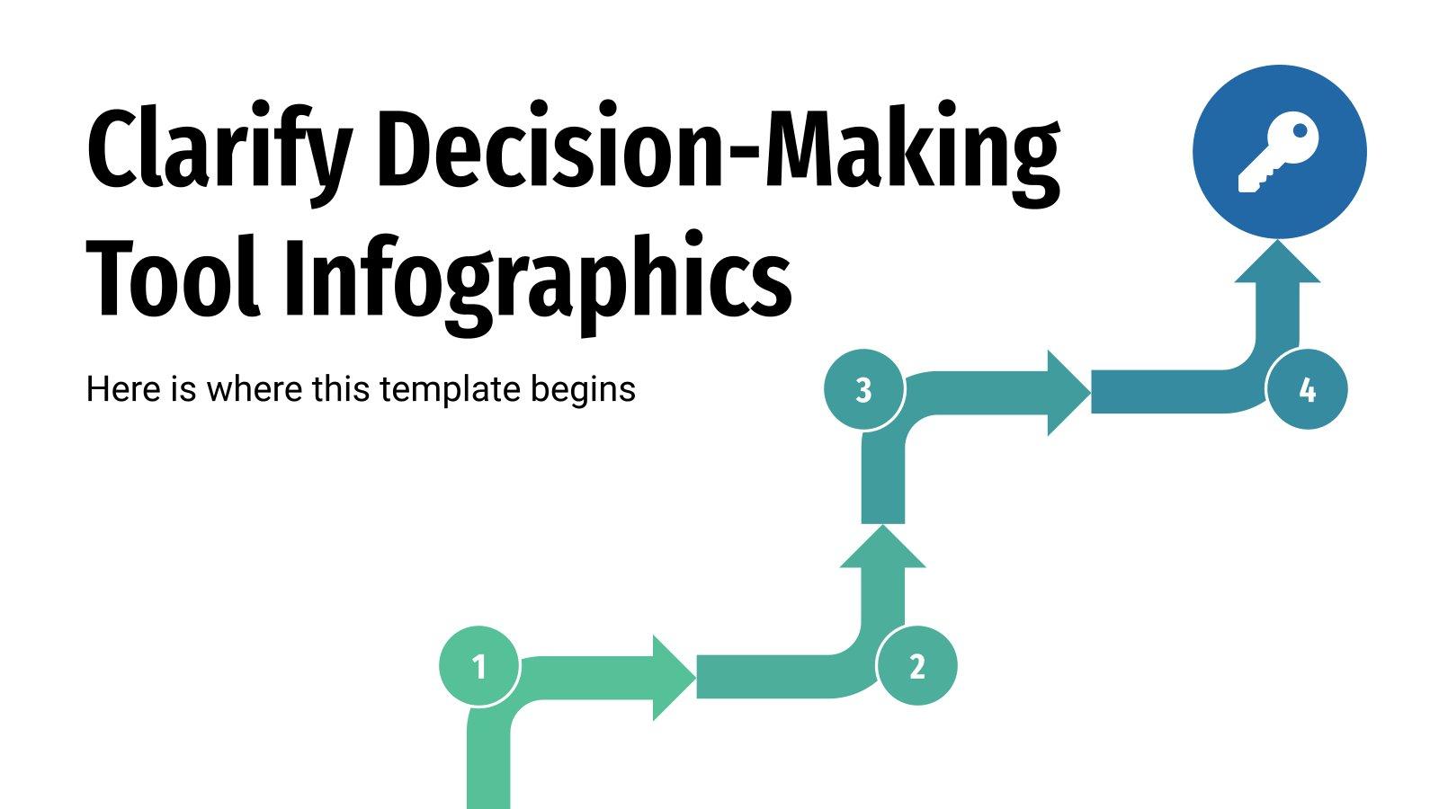 Infografiken: Decision-Making Präsentationsvorlage