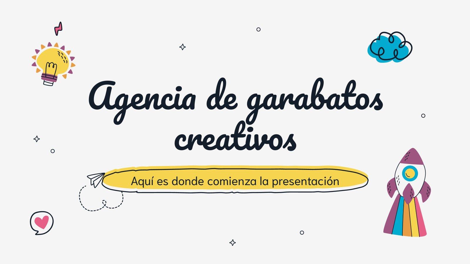 Plantilla de presentación Agencia creativa estilo doodle