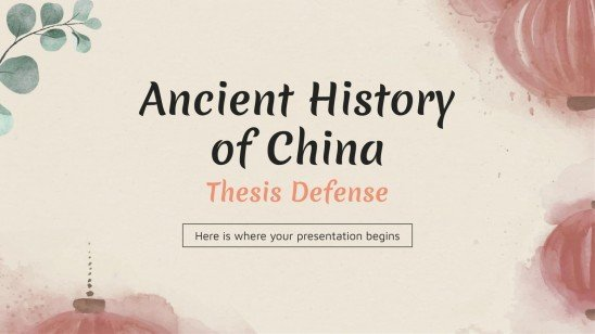 Ancient History of China Thesis presentation template