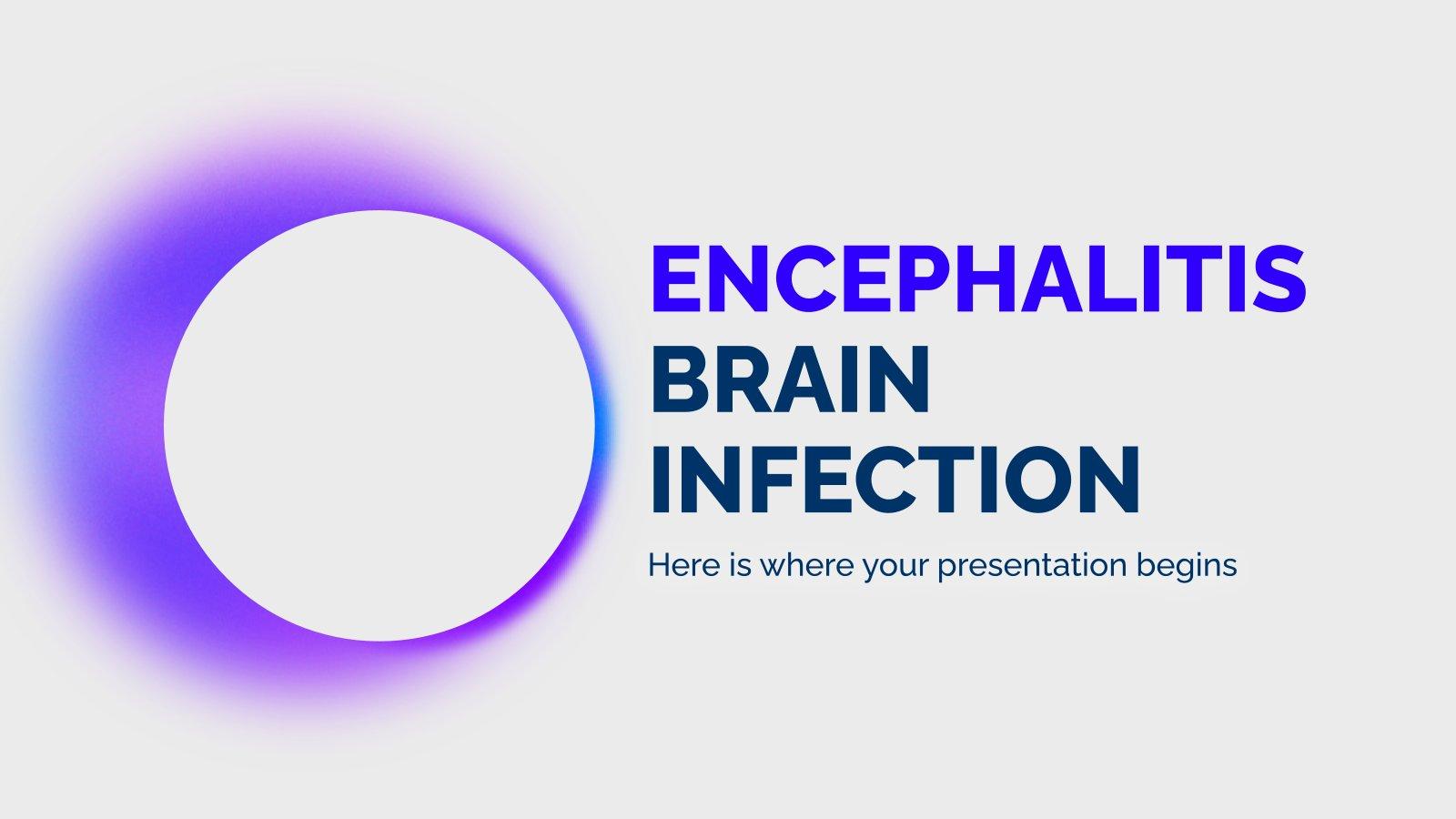 Encephalitis Brain Infection presentation template