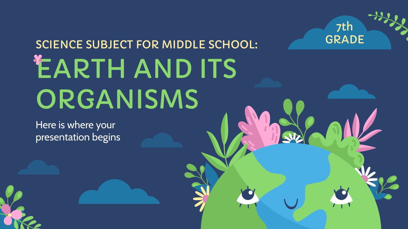 Science Subject for Middle School - 7th Grade: Earth and Its Organisms presentation template
