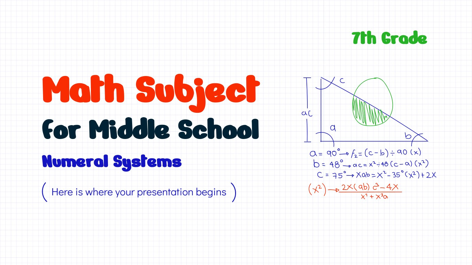 Math Subject for Middle School - 7th Grade: Numeral Systems presentation template