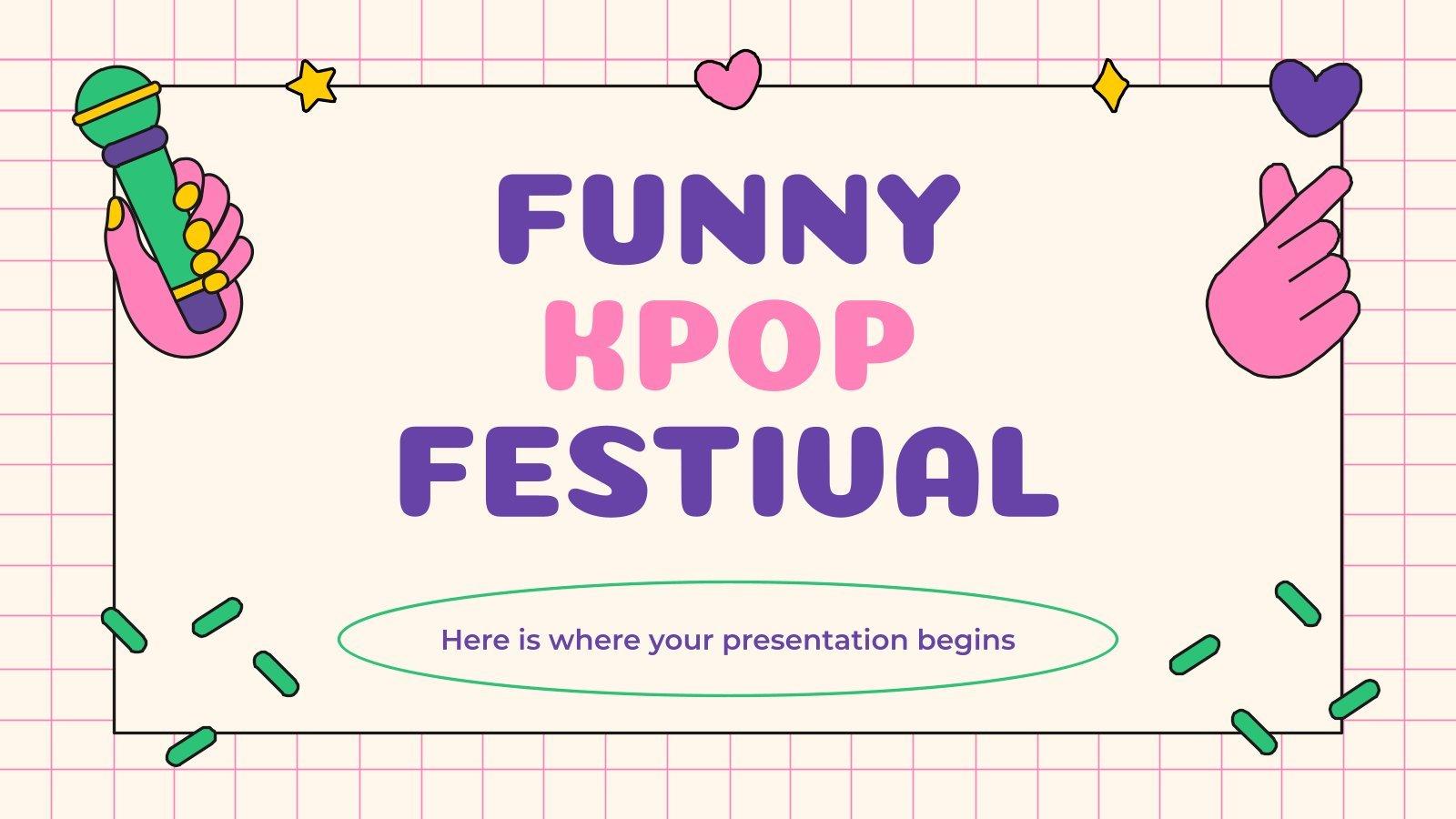 Funny Kpop Festival presentation template