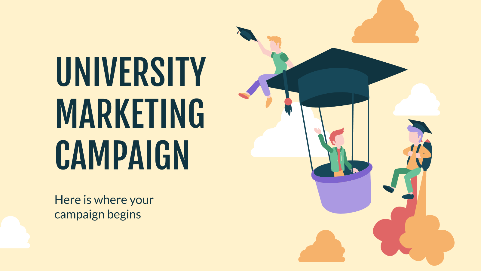 Modelo de apresentação Campanha de marketing de faculdade