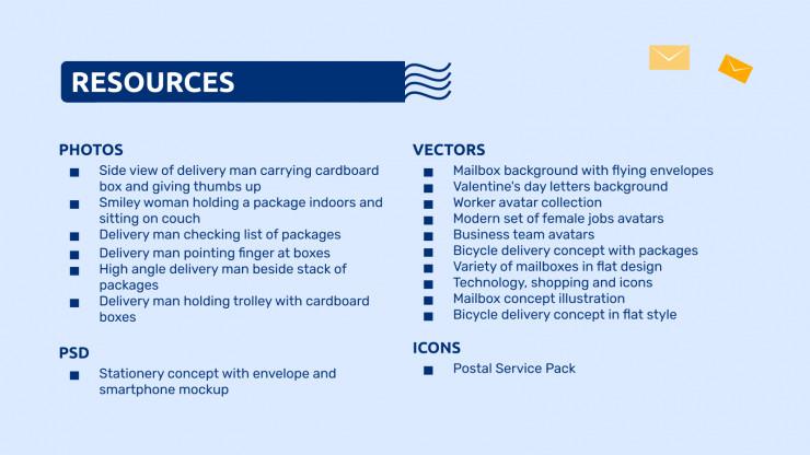 Lignes directrices de marque de bureau de poste : Modèles de présentation