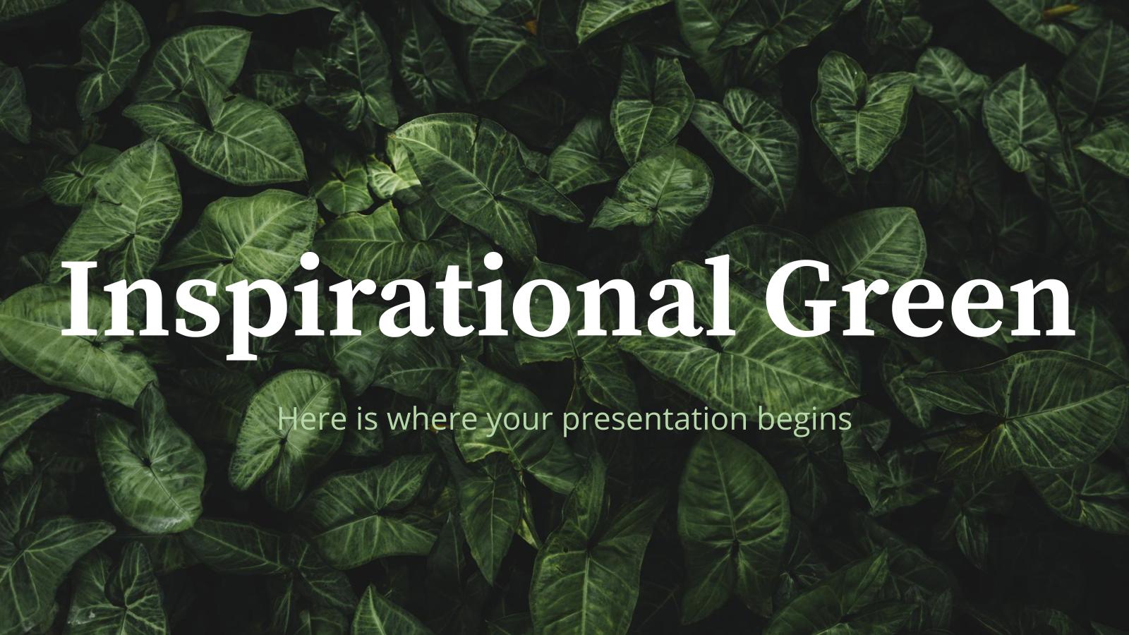 Plantilla de presentación Inspiración verde