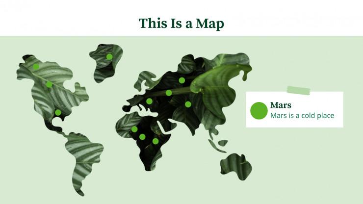 Modelo de apresentação Verde inspirador