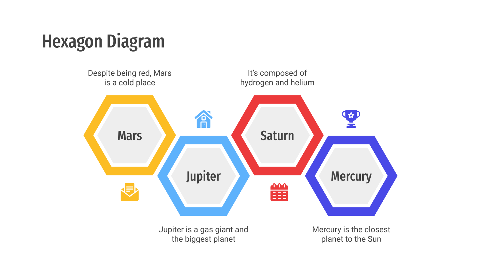 Hexagon Diagrams presentation template