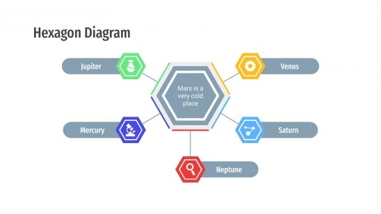Hexagon Diagrams presentation template
