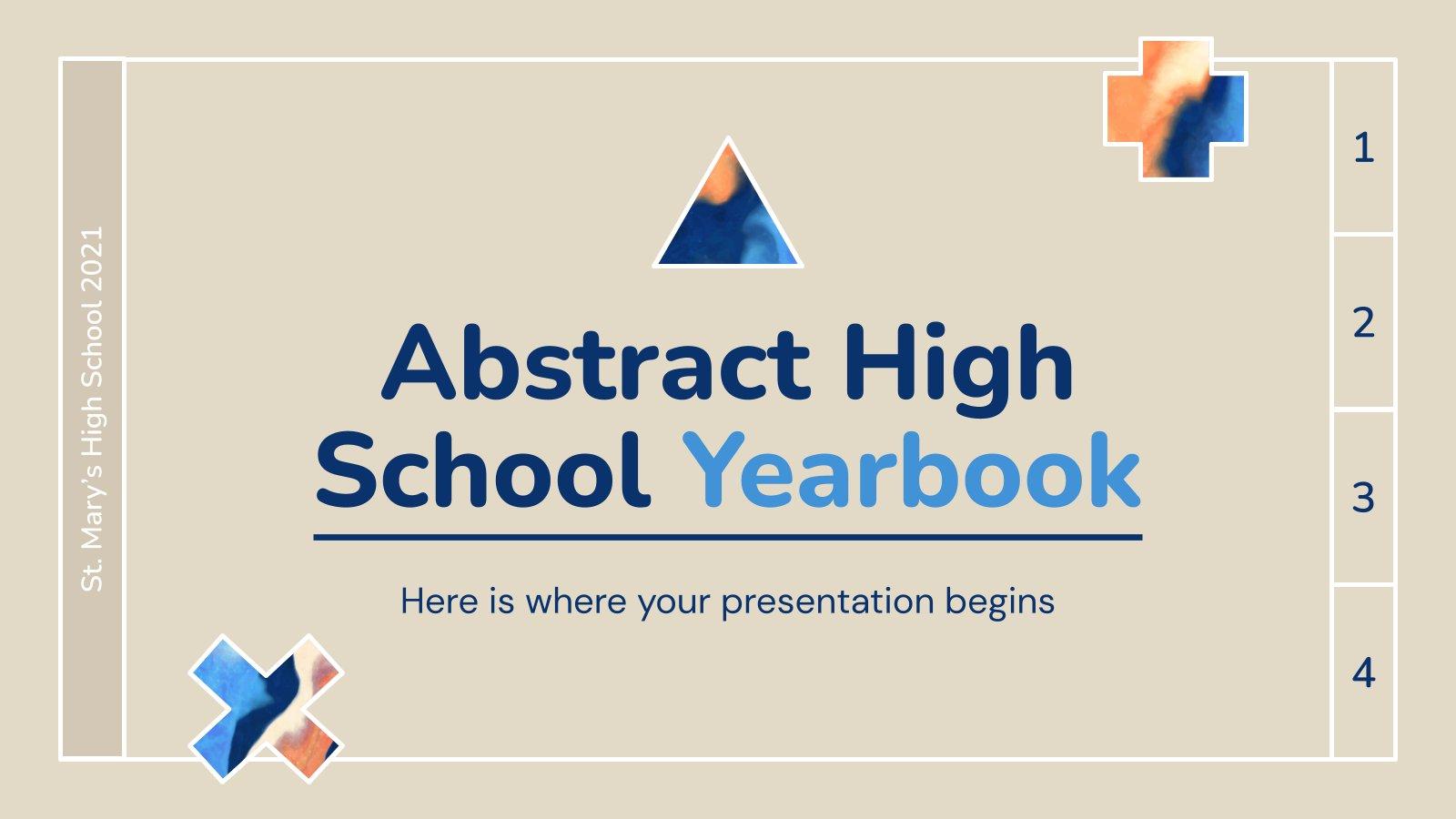 Plantilla de presentación Anuario abstracto para secundaria