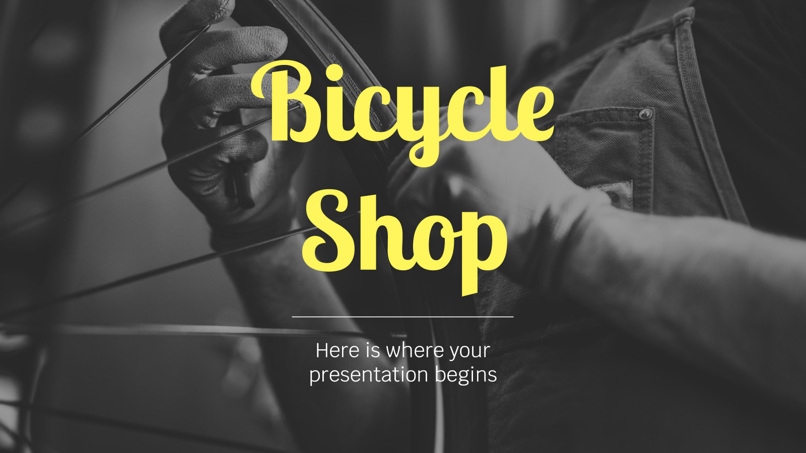 Bicycle Shop presentation template