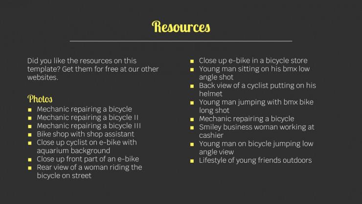 Plantilla de presentación Tienda de bicicletas