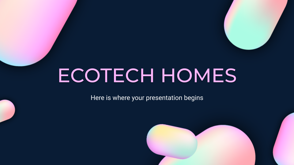 Ecotech Homes presentation template