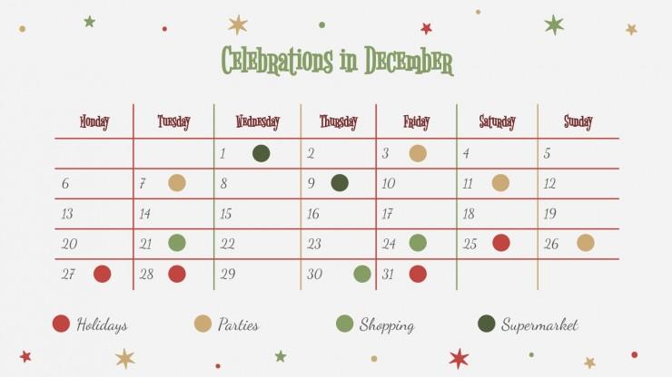 Fröhliche Weihnachten Präsentationsvorlage