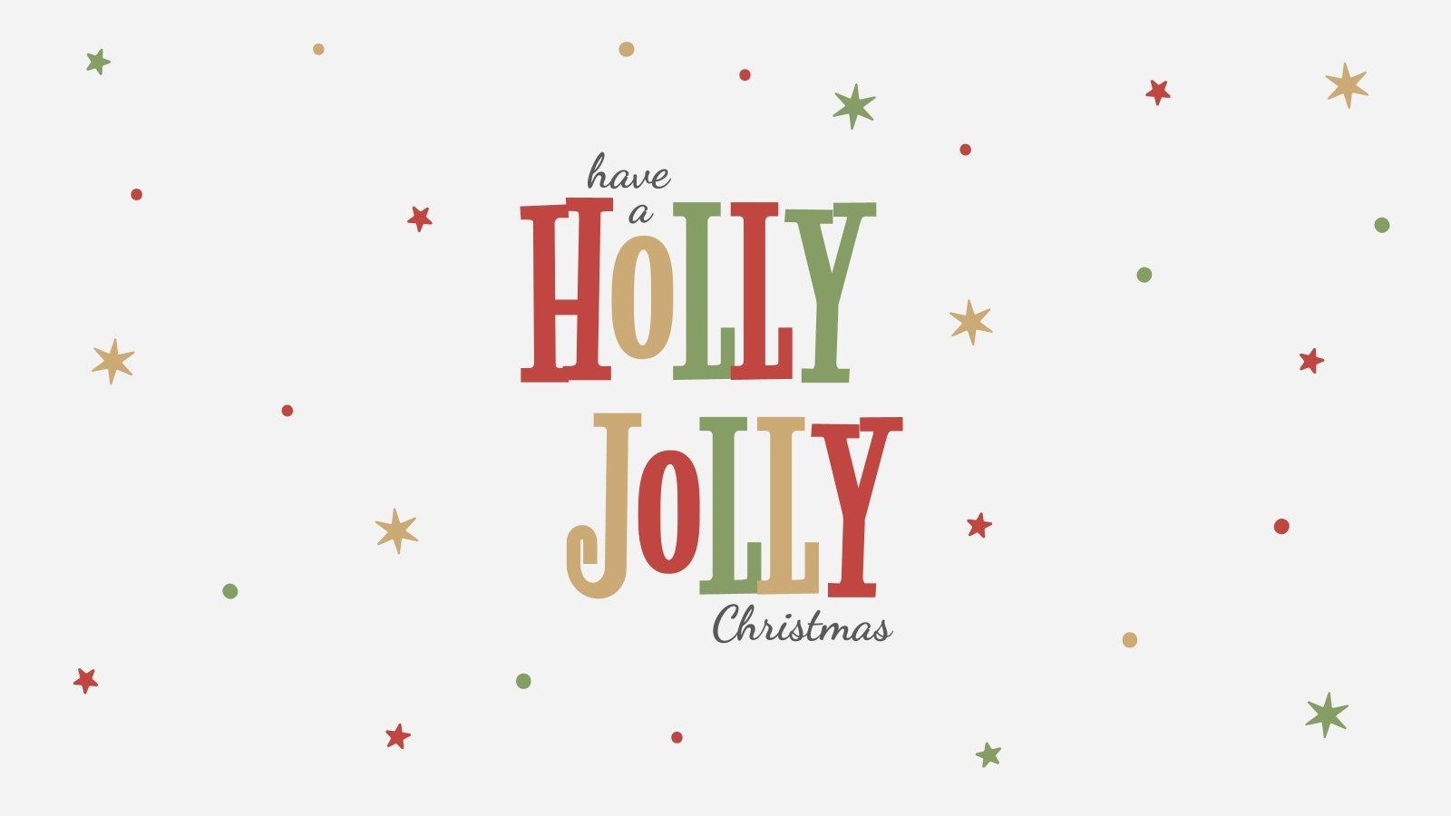 Holly Jolly presentation template
