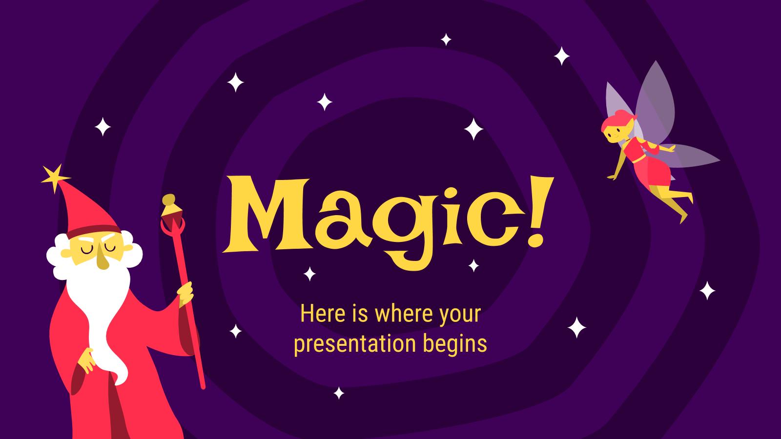 Plantilla de presentación Diapositivas mágicas