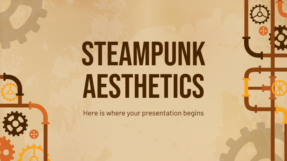 Steampunk Aesthetics presentation template