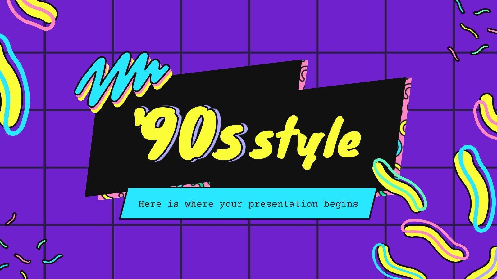 Stil der 90er Präsentationsvorlage