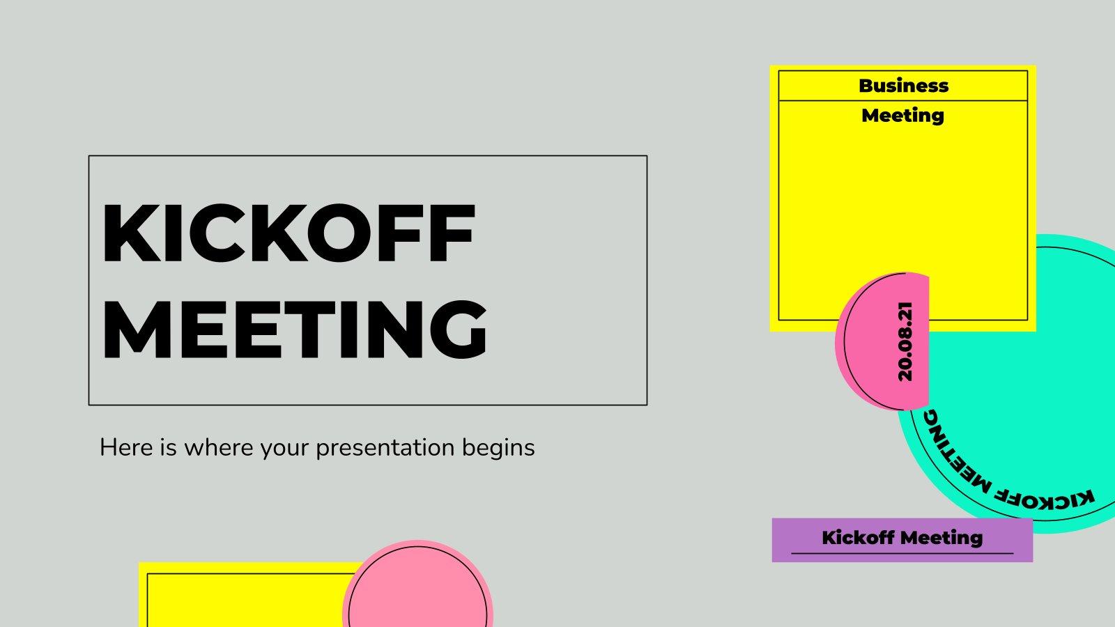 Kickoff Meeting Präsentationsvorlage
