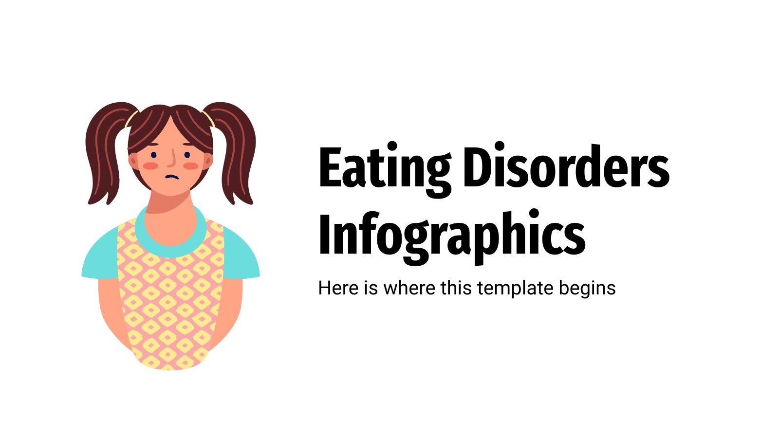 Modelo de apresentação Infográficos de transtornos alimentares