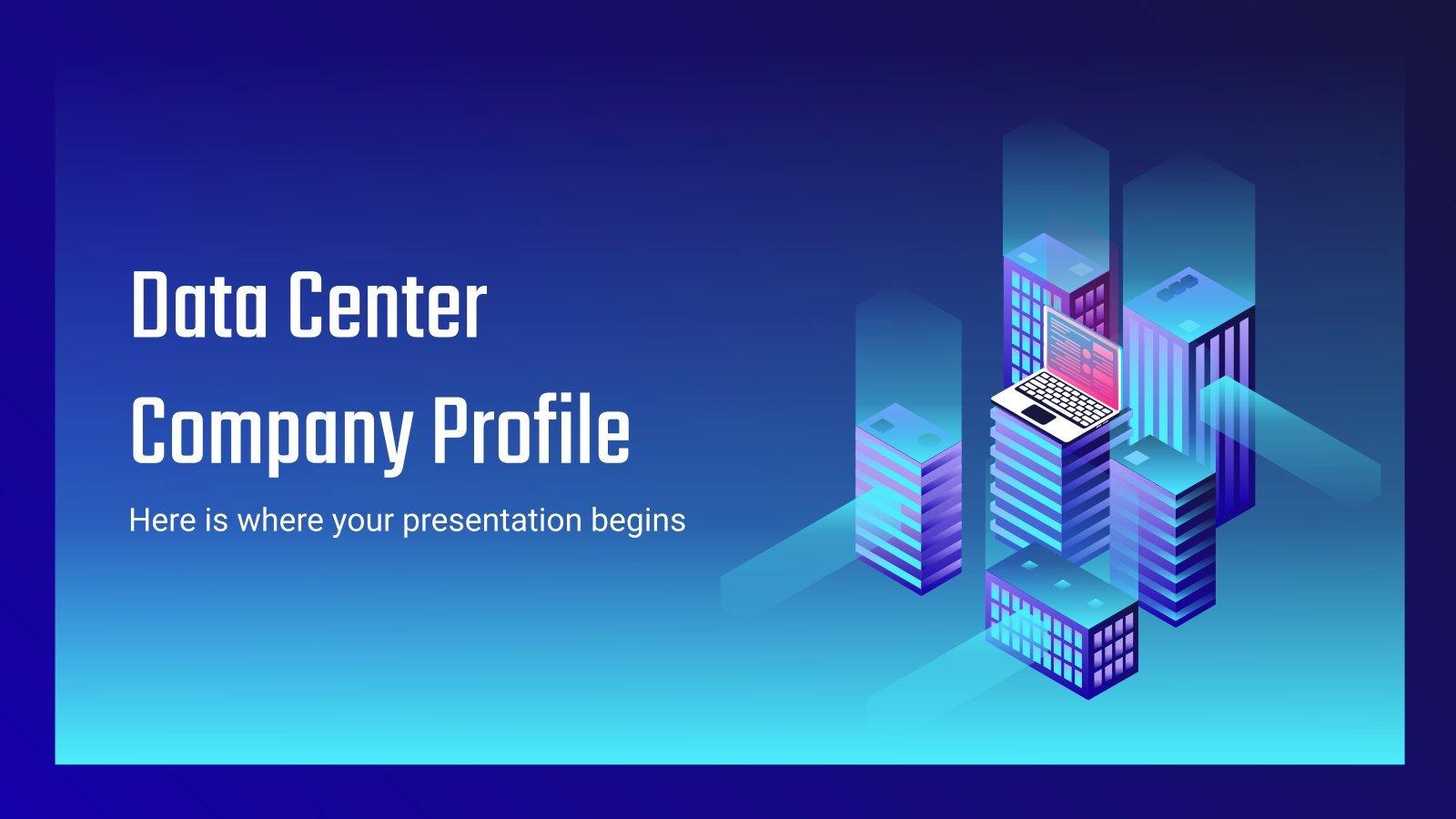 Modelo de apresentação Centro de processamento de dados