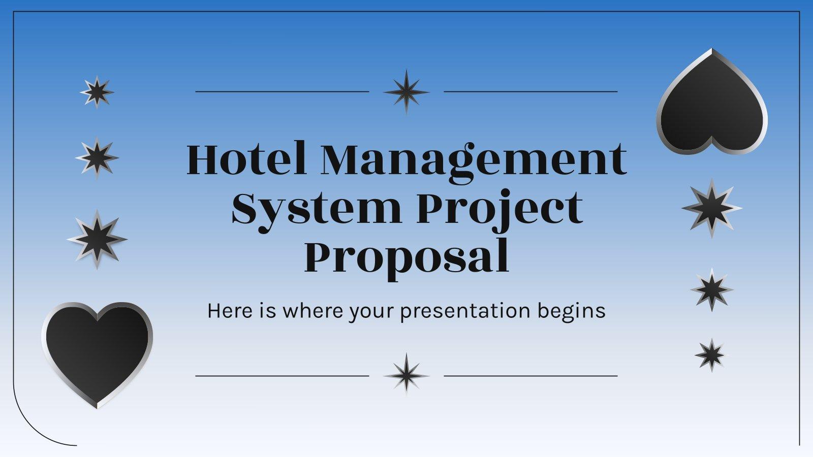Hotel Management Projektvorschlag Präsentationsvorlage