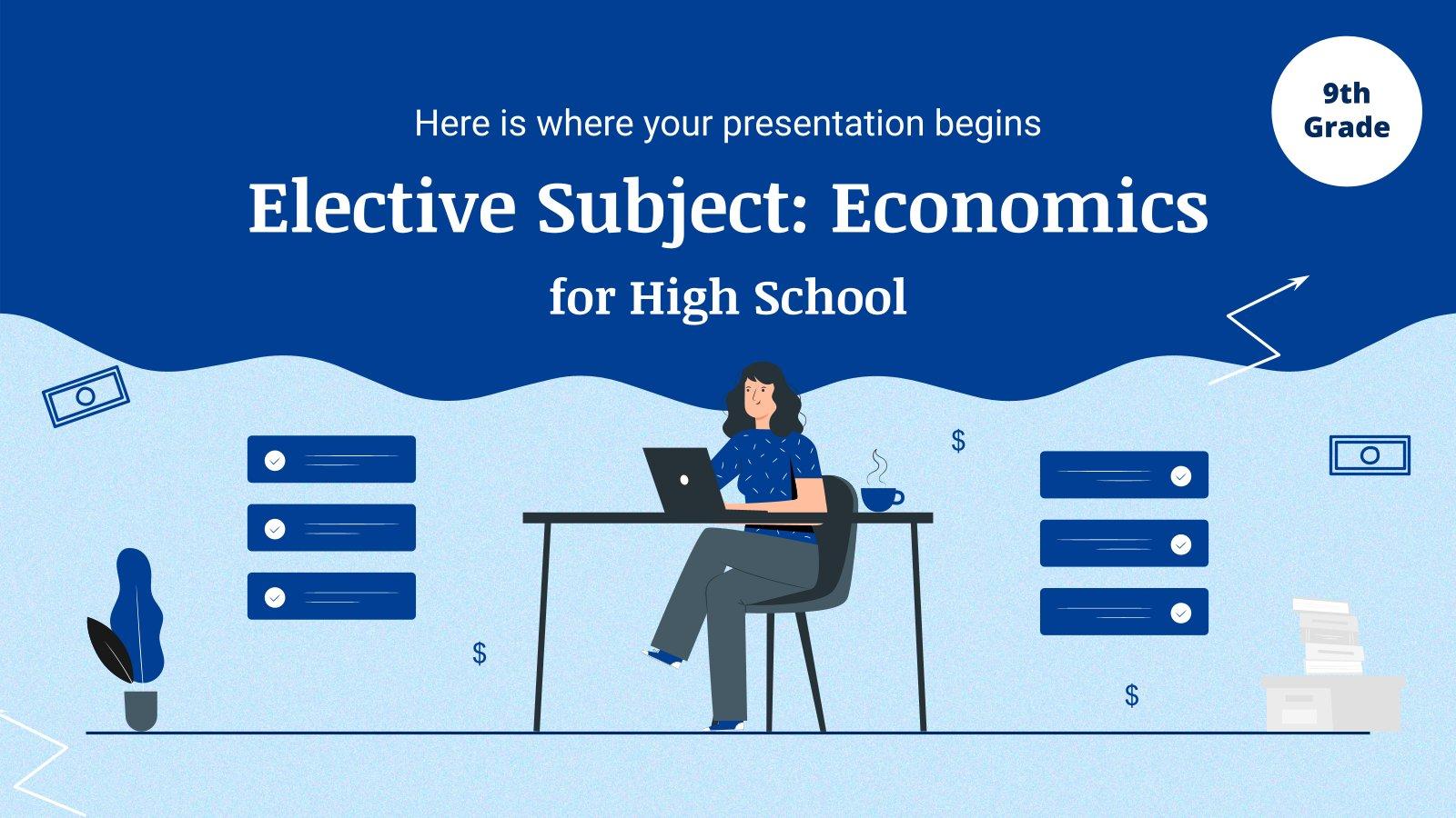 Modelo de apresentação Matéria eletiva para o ensino médio: Economia